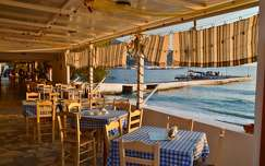 Görögország - Kalymnos szigete\nTaverna naplementében
