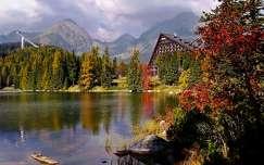 hegy tó ház ősz csorba-tó szlovákia kárpátok
