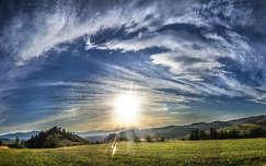 fény erdély felhő románia ősz