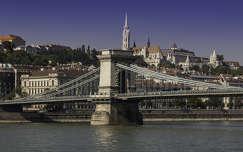 híd folyó duna lánchíd budapest magyarország