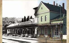 retró, balatonalmádi, vasútállomás, magyarország