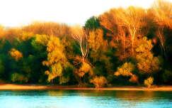 Dunánál őszi szinekbe borul a táj