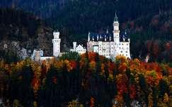 várak és kastélyok alpok németország ősz