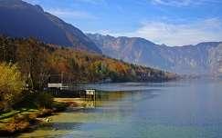 bohinji-tó tó alpok hegy triglav szlovénia ősz