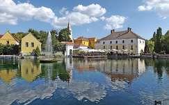 malom magyarország tükröződés tapolca tó