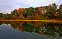 ősz tükröződés tó