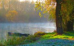 folyó, pára, ősz