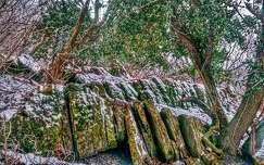 Havas bazaltkövek a Szent György- hegyen