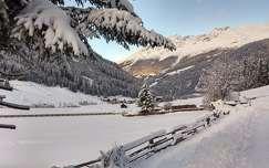 hegy tél kerítés
