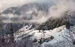 tél hegy felhő