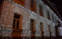 ház éjszakai képek karácsonyi dekoráció