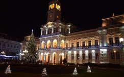 éjszakai képek karácsonyi dekoráció karácsonyfa