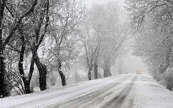 tél havazás út fasor
