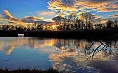tükröződés naplemente felhő