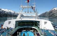 Luxushajó Alaszkában