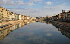 Tukrozodes az Arno folyoban, Pisa, Olaszorszag