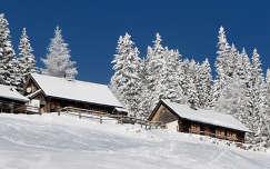 ház ausztria faház alpok tél
