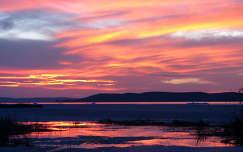 Tihanyi téli naplemente