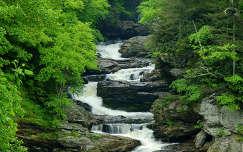 Cullasaja-Falls, Great Smoky Mountains Nemzeti Park