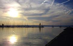 Siofoki vitorlás kikötő naplementében