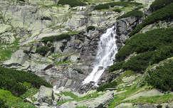 Szlovákia Magas-Tátra vízesés a Milynica völgyben