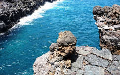 spanyolország kövek és sziklák tenger kanári-szigetek lanzarote
