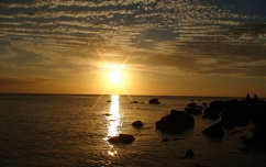 naplemente mauritius tenger felhő