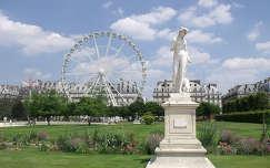 Franciaország, Párizs, Tuileriák kertje és az óriáskerék