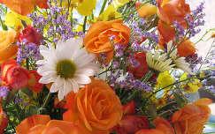 margaréta rózsa nyári virág virágcsokor és dekoráció
