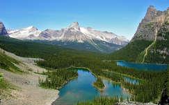 Mary-tó és az  O'Hara-tó, Sziklás-hegység, Kanada