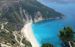 Myrtos-öböl, Kefalónia, az Ion-tenger legnagyobb szigete
