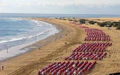 Playa de Ingles napernyői, Gran Canaria
