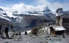 Kilátás a Matterhornra a Gornergrat tetejéről, Svájc