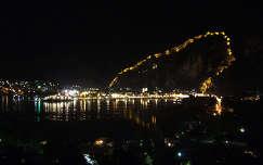 Kotori vár esti fényben, Montenegro