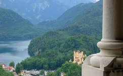 Neuschwansteini kastélyból kilátás