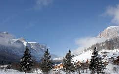 Tel bekoszontott, Corvara, Olasz Alpok