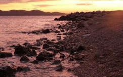 Zadari naplemente, tengerpart