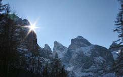 Napfelkelte az olasz Alpokban