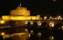Róma, Angyal vár, esti fényben