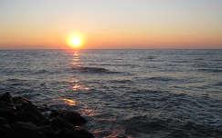Bibione, Olaszország, napfelkelte.