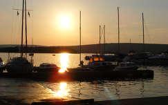 Horvátország-Punat kikötő.