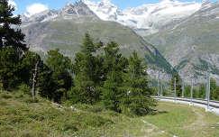 Útban a Gornergrat-ra, Svájc