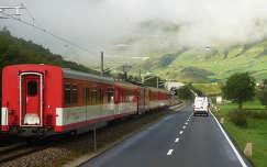 Útban a Furka-hágó felé, Svájc