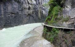 Aare folyó szurdoka Svájcban