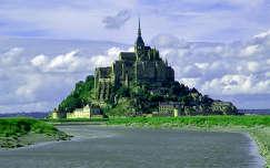 franciaország tengerpart tenger mont-saint-michel világörökség