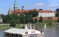 Wawel látképe, Krakkó és a Visztula folyó