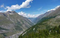 Zermatt és a Gornergrat között Svájcban