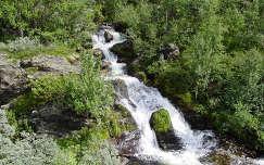 skandinávia norvégia vízesés erdő