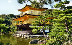 Kinkakuji templom, Kiotó, Japán