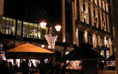 Budapest,Deák Ferenc utca karácsonyi kivilágításban